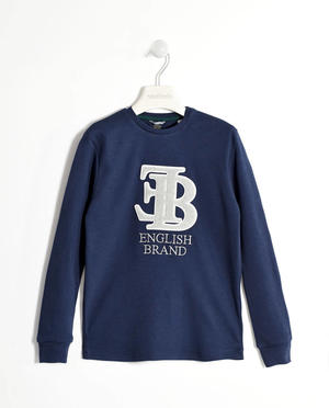 T-shirt with an embossed fleece print   BLUE