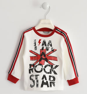 "100% cotton crew neck t-shirt ""I'm a rock star"""
