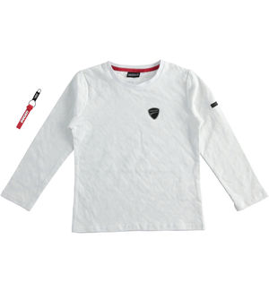 """Sarabanda interprets Ducati¿ 100% cotton round neck T-shirt  WHITE"