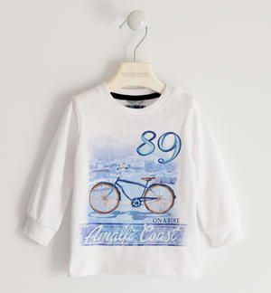 100% cotton crew neck t-shirt with Amalfi print