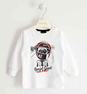 Round neck t-shirt with kart world print