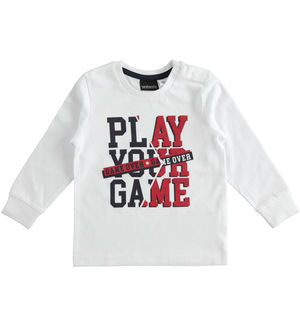 "Maglietta girocollo in jersey ""Play your game"""