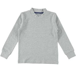 Boys' solid colour crew neck T-shirt GREY