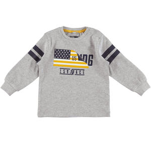 Long-sleeved sporty sweater  GREY