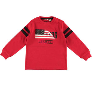 Long-sleeved sporty sweater  RED