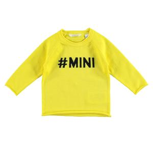 100% cotton unisex round neck sweater YELLOW