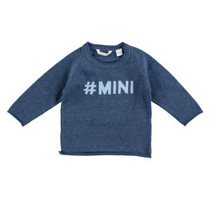 100% cotton unisex round neck sweater BLUE