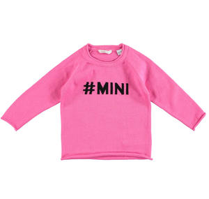 100% cotton unisex round neck sweater PINK