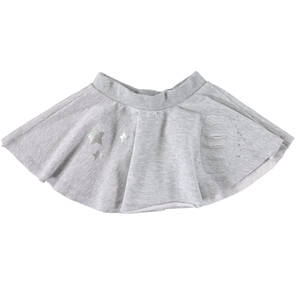Half circle fleece mini skirt  GREY