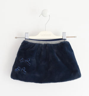 Mini skirt completely made of very soft faux fur BLUE