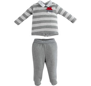 Very soft and comfortable newborn stretch cotton warm rompers GREY