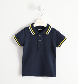 SHORT SLEEVED POLO BLUE