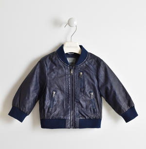 Faux leather bomber jacket BLUE