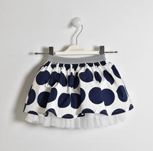 Polka dot skirt with lurex elastic BLUE