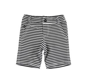 Original striped shorts in lightweight non brushed fleece WHITE