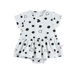 Polka dots and hearts romper WHITE