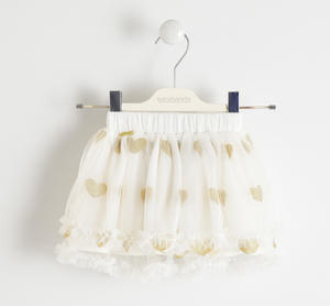 Tulle skirt with glitter hearts
