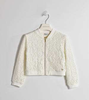 Elegant and comfortable girl's jacket with lace trimming