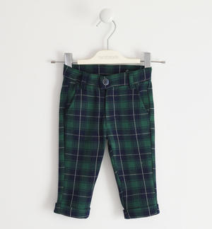 Classic style check trousers