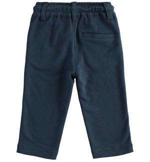 Classic fleece trousers with upturn BLUE