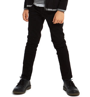 Classic solid-coloured slim fit trousers   BLACK