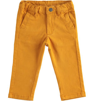 Classic stretch twill trousers YELLOW