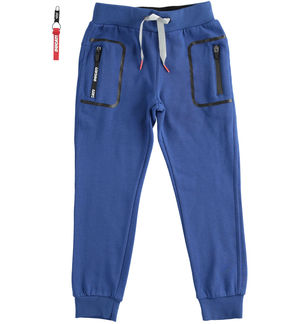 "Trousers with pocket print ""Sarabanda interprets Ducati"" BLUE"