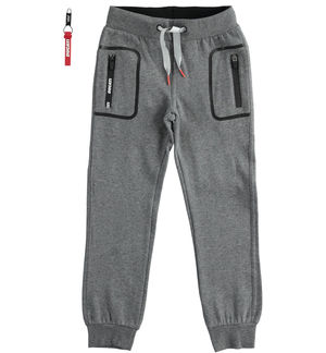 "Trousers with pocket print ""Sarabanda interprets Ducati"" GREY"