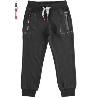 "Trousers with pocket print ""Sarabanda interprets Ducati"" BLACK"