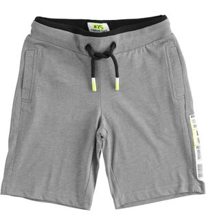 Short trousers with barcode GREY