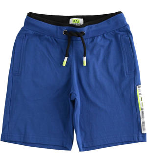 Short trousers with barcode BLUE
