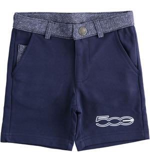 "Short trousers with 100% organic cotton print ""Sarabanda interprets The New 500"" BLUE"