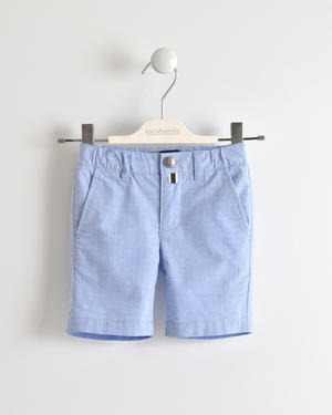 Stretch fil a fil short trousers BLUE