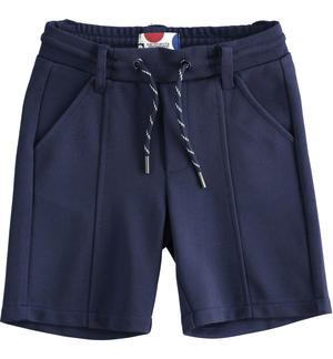 Short trousers in Milano stitch BLUE