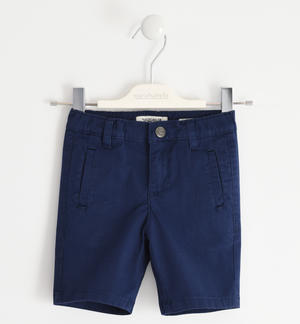 Short trousers in stretch cotton twill BLUE