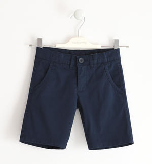 Shorts in stretch cotton twill BLUE