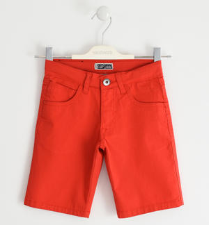 Stretch cotton twill short trousers RED