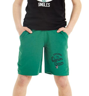 100% cotton raw cut short trousers GREEN