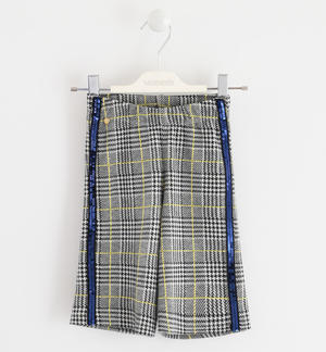 Very soft cut mesh trousers Prince of Wales pattern BLUE