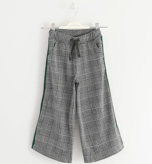 Pantalone cropped checked jacquard NERO