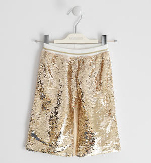 Reversible sequin trousers BROWN