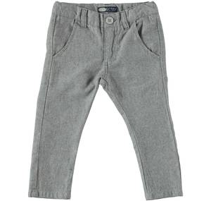 Slim fit trousers with a slightly low crotch GREY