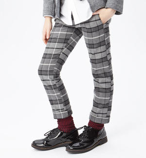 Checked trousers   GREY