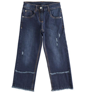 Wide and comfortable denim trousers BLUE