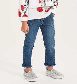 Denim trousers with heart pockets BLUE