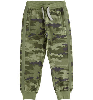 Camouflage fleece trousers GREY