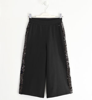 Fleece trousers with sequins