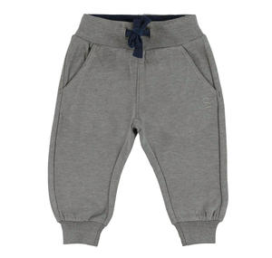 Fleece tracksuit bottoms with ankle cuffs   GREY