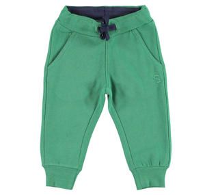 Fleece tracksuit bottoms with ankle cuffs   GREEN