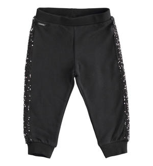 Fleece trousers with sequin tape